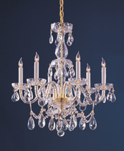 Crystorama 1126-PB-CL-MWP - Crystorama Traditional Crystal 6 Light Crystal Brass Chandelier