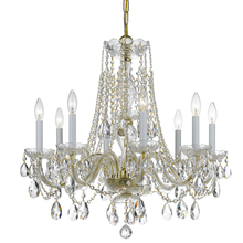Crystorama 1138-PB-CL-MWP - Crystorama Traditional Crystal 8 Light Crystal Brass Chandelier III
