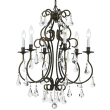 Crystorama 5016-EB-CL-MWP - Crystorama Ashton 6 Light English Bronze Chandelier