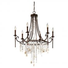 Feiss F2660/6HTBZ - 6- Light Single Tier Chandelier