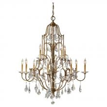 Feiss F2479/8+4OBZ - 12- Light Multi-Tier Chandelier