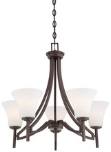 Minka-Lavery 4935-284 - 5 Light Chandelier