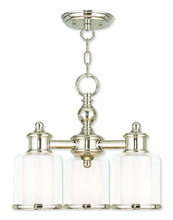 Livex Lighting 40203-35 - 3 Light PN Mini Chandelier/Ceiling Mount