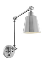 Lite Source Inc. LS-16146BN - Metal Wall Lamp, Brushed Nickel, Type A 60w