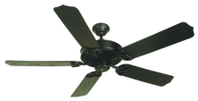 "Craftmade K10163 - Outdoor Patio 52"" Ceiling Fan Kit in Flat Black"