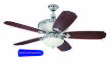 "Craftmade SAR52CH - Saratoga 52"" Ceiling Fan in Chrome (Blades Sold Separately)"