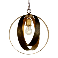 Crystorama 580-EB-GA - Crystorama Luna 1 Light Bronze & Gold Sphere Mini Chandelier