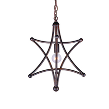 Crystorama 9235-EB - Crystorama Astro 1 Light Bronze Mini Chandelier