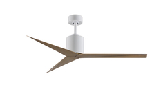 Matthews Fan Company EK-WH-GA - Eliza Three Bladed Paddle Fan in Brushed Nickel With Gray Ash Blades. Wet location.