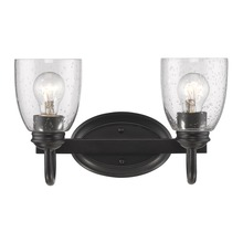 Golden 8001-BA2 BLK-SD - 2 Light Bath Vanity