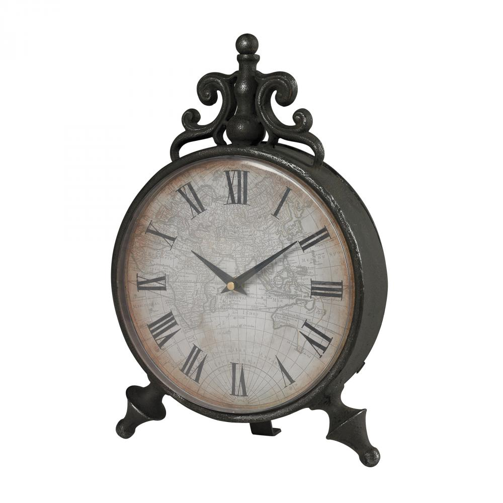 Arkle Reproduction Metal Desk Clock by Sterling