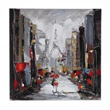 Sterling Industries 149-013 - Paris Scene Oil On Canvas