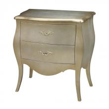 Sterling Industries 6041450 - Romana Bowfront Chest In Silver Leaf And Champagne