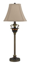 "CAL Lighting BO-2250BF/2 - 30.25"" Height Resin Buffet Lamp In Patina"