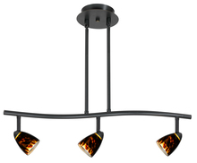 "CAL Lighting SL-954-3-DBBRNS - 7.25-19.25"" Inch Adjustable Metal Serpentine Three Light Ceiling Fixture"