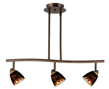 "CAL Lighting SL-954-3-RUBRNS - 7.25-19.25"" Inch Adjustable Metal Serpentine Three Light Ceiling Fixture"