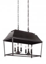 Feiss F3105/6DAC/AC - 6 - Light Island Pendant