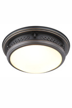Elegant 1447F16BZ - 1447 Mallory Collection Flush mount D:16in H:6.5in Lt:3 Bronze Finish