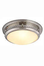 Elegant 1447F16PN - 1447 Mallory Collection Flush mount D:16in H:6.5in Lt:3 Polished Nickel Finish