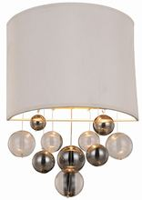 Elegant 1486W10VN - 1486 Milan Collection Wall Sconce D:10in H:16in E:4in Lt:1 Vintage Nickel Finish