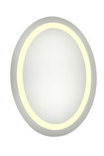 "Elegant MRE-6018 - LED Electric Mirror Oval W21""H28"" Dimmable 3000K"
