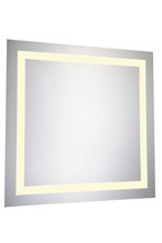 "Elegant MRE-6020 - LED Electric Mirror Square W28"" H28"" Dimmable 3000K"