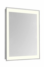 "Elegant MRE-6111 - 4 Sides LED Edge Electric Mirror Rectangle W20""H30"" Dimmable 3000K"