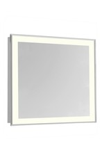 "Elegant MRE-6118 - 4 Sides LED Edge Electric Mirror Rectangle W28""H28"" Dimmable 3000K"
