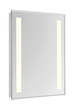 "Elegant MRE-6314 - 2 Sides LED  Electric Mirror Rectangle W24""H40"" Dimmable 3000K"