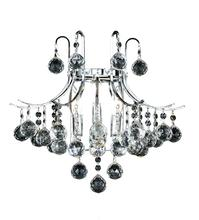 Elegant V8000W16C/EC - 8000 Toureg Collection Wall Sconce D:16in H:14in E:9.5in Lt:3 Chrome Finish (Elegant Cut Crystals)