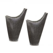 Dimond 857124/S2 - Reaction Filled Vases In Grey - Set of 2