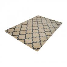 Dimond 8905-051 - Wego Handwoven Printed Wool Rug In Natural And B