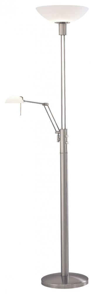 1 LIGHT TORCHIERE W/READING LAMP