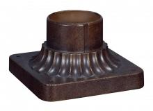"Nuvo 25/4021 - Aluminum Post Base; 6"" Square; Pier Mount Base; Fruitwood Finish"