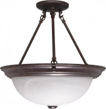 "Nuvo 60/210 - 3 Light - 15"" Semi Flush"