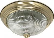 "Nuvo 60/230 - 2 Light - 13"" Flush Fixture"