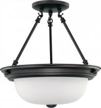 "Nuvo 60/3149 - 2 Light 13"" Semi-Flush"