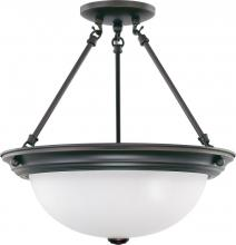 "Nuvo 60/3151 - 3 Light 15"" Semi-Flush"