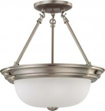 "Nuvo 60/3245 - 2 Light 13"" Semi-Flush"