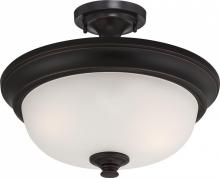 Nuvo 60/5700 - Elizabeth - 2 Light Semi Flush