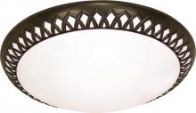 "Nuvo 60-925 - Rustica ES 3 Light 17"" Flush"