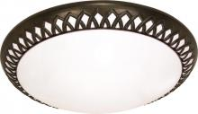"Nuvo 60-926 - Rustica ES 3 Light 27"" Flush"