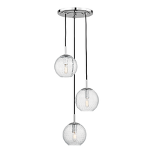 Hudson Valley 2033-PC-CL - 3 Light Pendant With Clear Glass