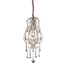 ELK Lighting 12013/1RS - Opulence 1 Light Pendant In Rust With Rose Cryst