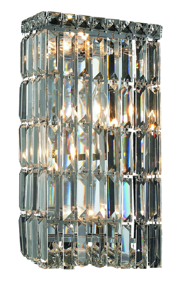 Maxime 4 Light Chrome Wall Sconce Clear Swarovski Elements Crystal
