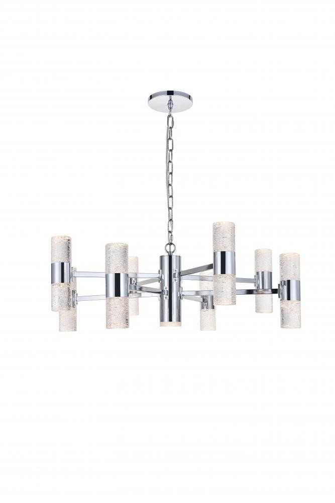 Vega 17 Light Chrome Led Pendant J13c4 Lighting Plus Inc